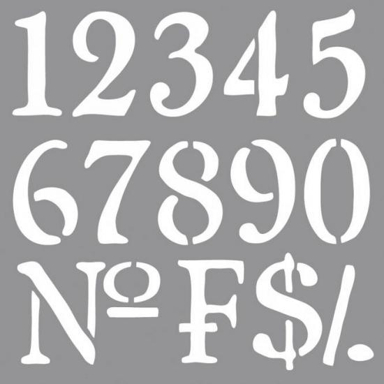 Populair Sierlijke cijfers tekenen online hobby winkel CT59