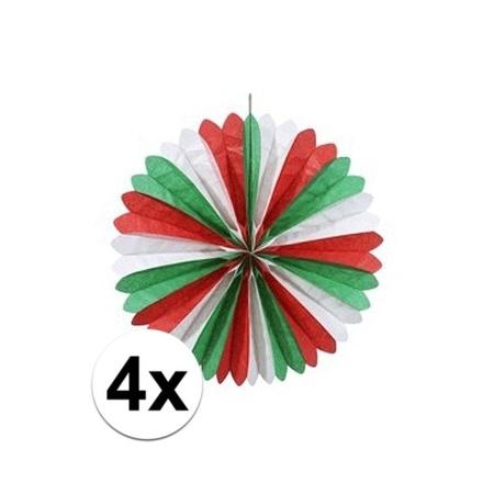 4x Italie Italiaanse Decoratie Waaiers 60 Cm Online Hobby Winkel